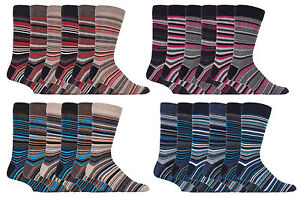 Sock-Snob-6-Pack-Mens-Cotton-Rich-Quality-Colourful-Striped-Formal-Dress-Socks