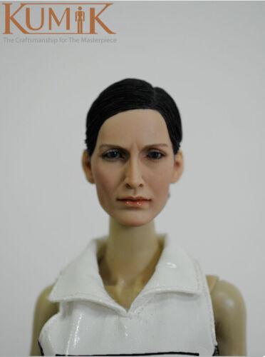 KUMIK 13-42 Carrie-Anne Moss 1//6 TESTA SCOLPIRE PER CUSTOM CORPO #US venditore Donna #