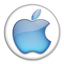 "Apple Logo 25mm 1"" Pin Badge Mac iPhone iPad iPod Steve Jobs"