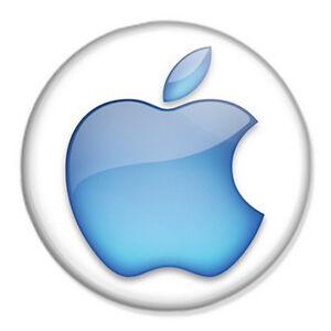 apple logo 25mm 1 pin badge mac iphone ipad ipod steve jobs ebay