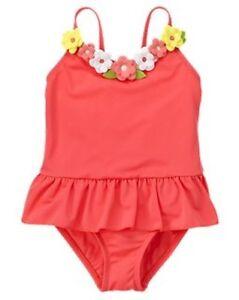 9d0ea2c97d NWT Gymboree 3D Daisy Flower Skirted One-Piece Swimsuit Swimwear ...