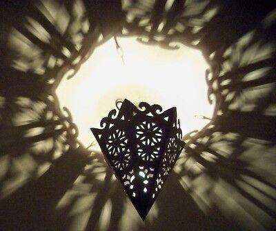Lustre plafonnier marocain fer forgé lampe applique bh lanterne suspension