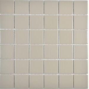 Details zu Keramikmosaik grau matt Fliesenspiegel Dusche Küche Wand Bad  14-2411 | 10 Matten