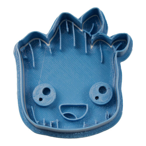 Cortador de Galletas Superheroes Azul Cuticuter Chibi Groot Face Cookie Cutter