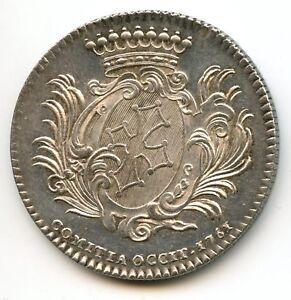 Luis XV Comité De Languedoc Ficha Plata 1761 D.272