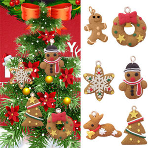 image is loading 6 xmas pendant ornaments gingerbread man party christmas