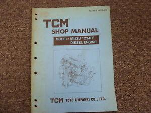 Isuzu c240 service manual musicpage image is loading tcm toyo umpanki model c240 isuzu diesel fandeluxe Gallery