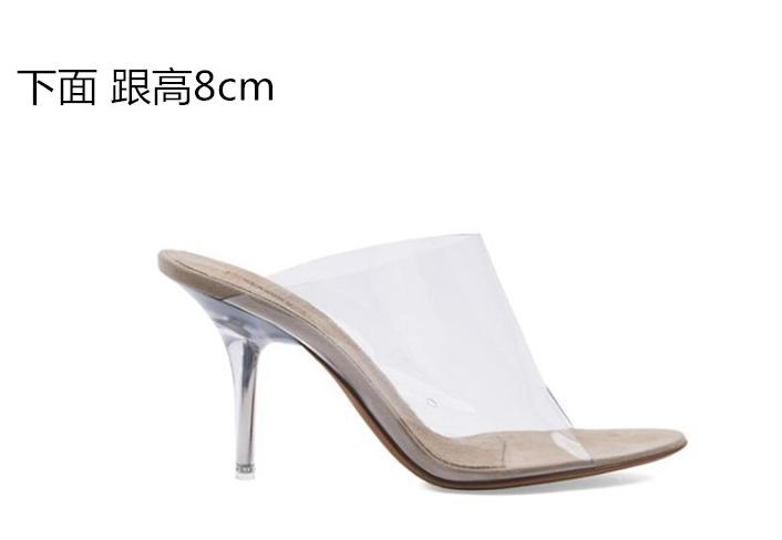 HOT Womens Sandals Sandals Sandals Summer Pumps Transparent Slip On New  Slingback shoes Heels 707688