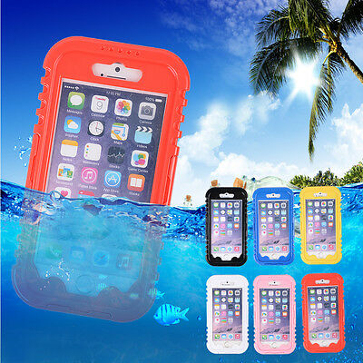 6PCS Waterproof Shockproof Soft Silicone Shell Case Cover For iPhone 6Plus 5.5""