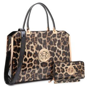 Women-Handbags-Faux-Patent-Leather-Briefcase-Laptop-Bags-Satchel-Match-Wallet