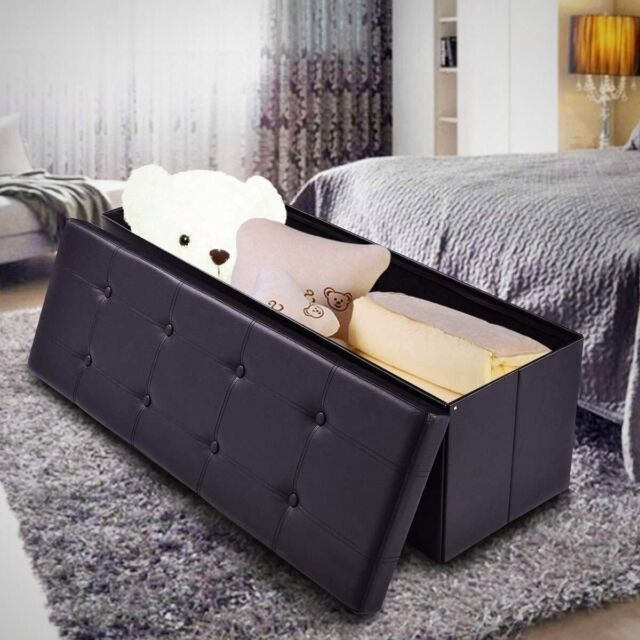 Large Toy Storage Chest Bench Seat For Kids Bedroom Room Blanket Organizer  Box