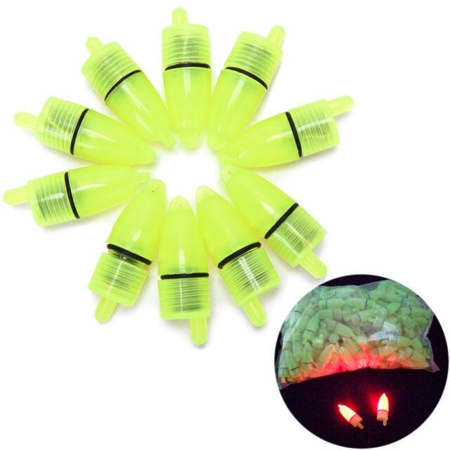 10Pcs Fishing LED Light Nightip Clip On Fishing Rod Bite Alarm Alertools  t