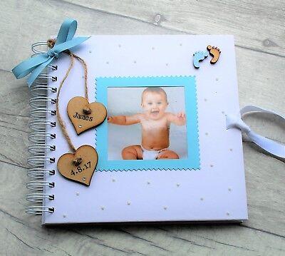 Handmade Scrapbook Baby Girl Album Memory Keepsake Photo Book Personalized Picture Album For Birthday Newborn Present Christening Gift