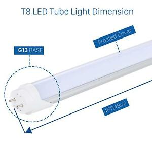 Details about G13 LED Tube Light Lamp Bulb-T8 4 Foot Feet 4FT 48