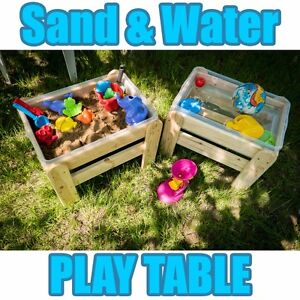 Image Is Loading WOODEN SAND AND WATER PLAY TABLE SANDPIT GARDEN