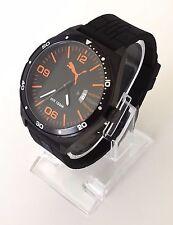 Puma Herren Uhr schwarz orange weiß Silikon Datum PU104151002