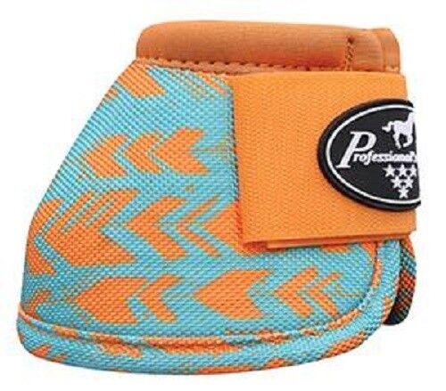 Professional/'s Choice Ballistic No Turn Bell Boots Turquoise Orange Arrow Print