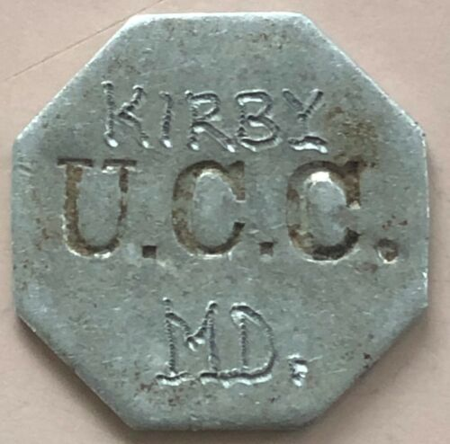 MARYLAND ~ HEXAGON TOKEN UCC KIRBY UTT ~ UNITED CANNING COMPANY ~ TRAPPE