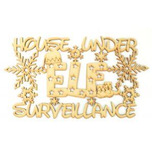 034-CASA-sotto-sorveglianza-ELF-034-Natale-in-legno-MDF-Natale-Craft-preventivo-H97