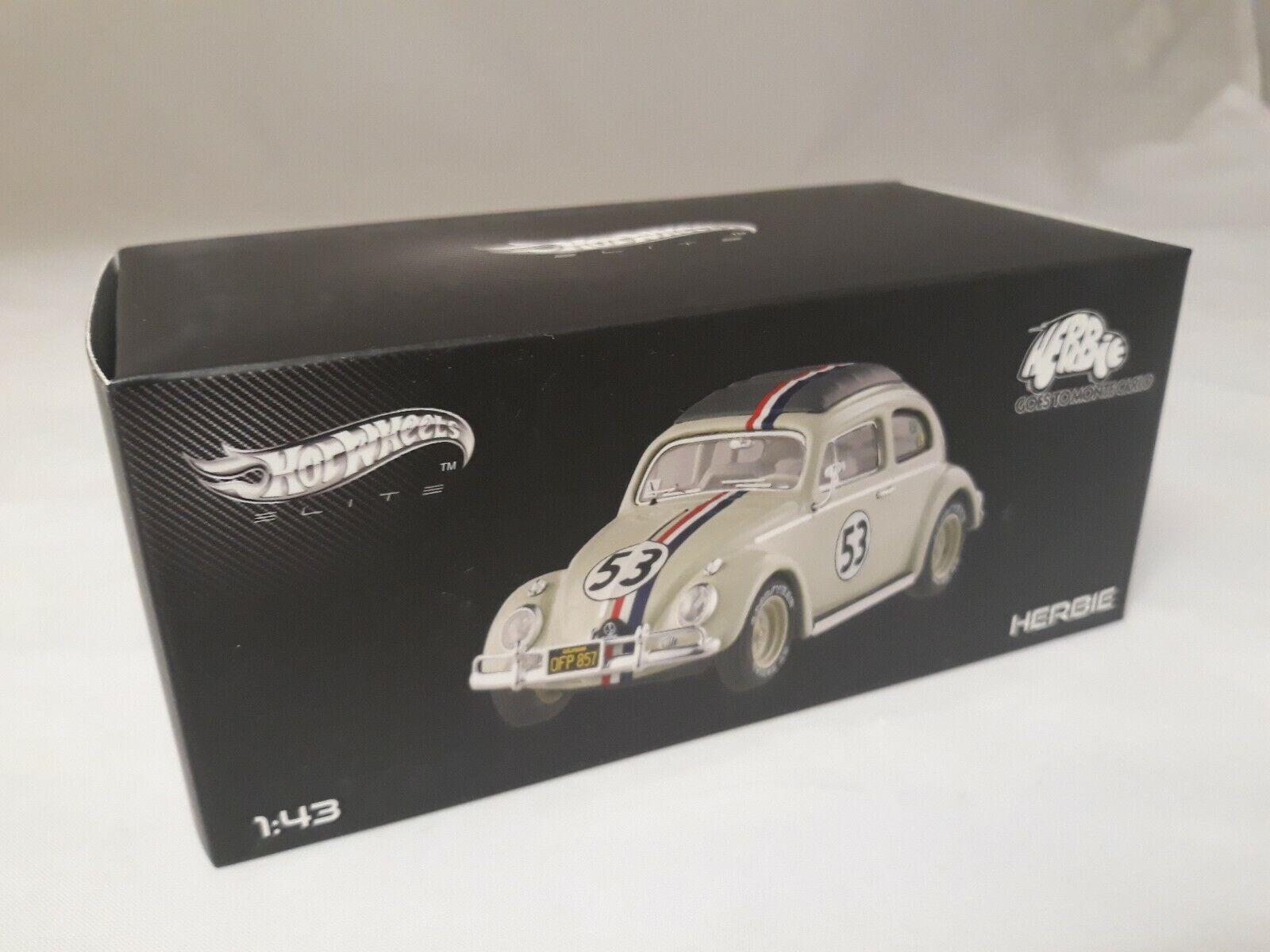 Hot Wheels Elite Herbie  53 Goes to Montecarlo 1 43