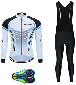 Big /& Tall Bib Set Regular Men/'s Cycling Long Sleeve Set Bicycle Shirt