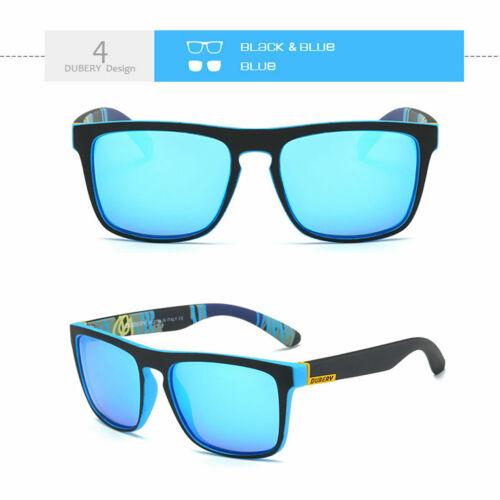 DUBERY Polarized Sunglasses Men Square Sport Driving Fishing Glasses 100/% UV400