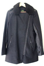 NEW! Sam Edelman Women's Wool Sexy Pea Coat Asymmetrical Zip Jacket M $330