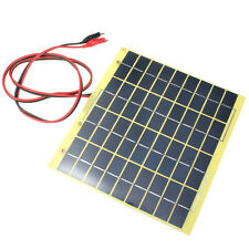 HOT 220x200mm 12V 5W Solar Panel Fit Car Battery Trickle Charger Backpack Power