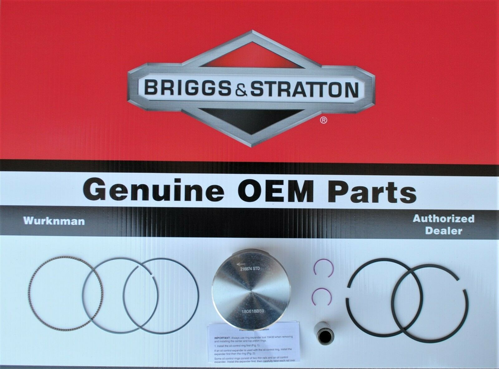 Genuine OEM Ensamblaje De Pistón 594539 Briggs & Stratton
