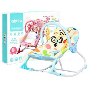 Babyjoy Baby Bouncer & Rocker Infant Toddler Adjustable w/ Vibration Music Blue