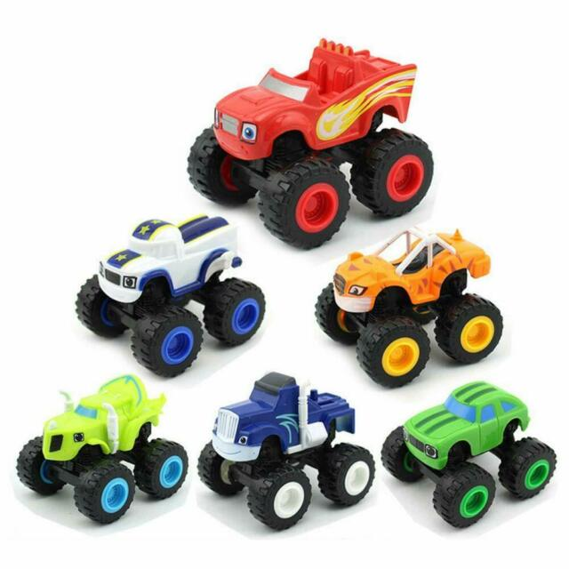 6pcs/set Blaze and the Monster Machines Vehicles Toy Racer Cars Trucks Kids Gift