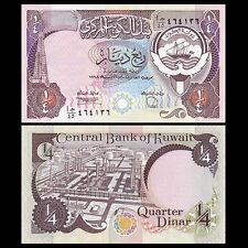 Dinar 2014 P-29//30 Unc Kuwait 1//4 1//2 2 Pcs Set Quarter /& Half