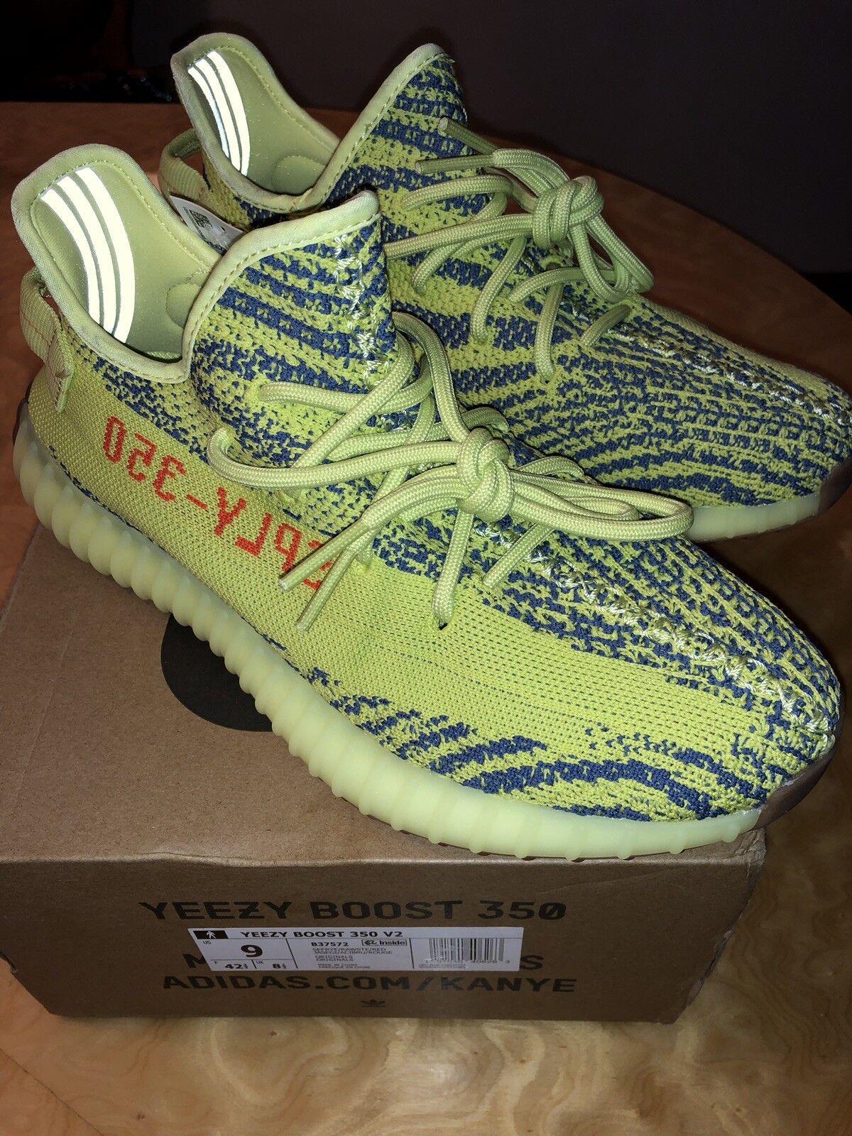 Adidas Yeezy Boost 350 V2 Frozen Yellow Semi Frozen B37572 Authentic