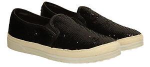 Espadrillas Flat New Sequin Beach Nero Summer Womens Donna Mocassini Shoes w4Z7BHqF