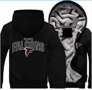 "Hot New Thicken Hoodie Team Atlanta Falcons Warm Sweatshirt Lacer Zipper Jacket/"""