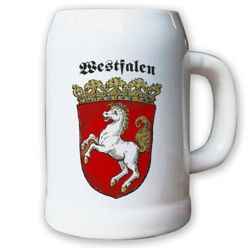 Krug Provinz Westfalen Landeswappen Stadtwappen #9496 Bierkrug 0,5l