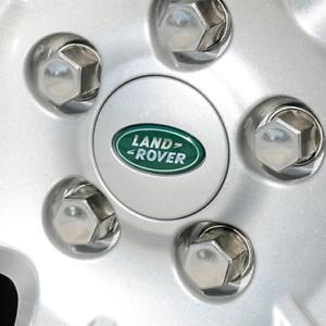 LAND ROVER RANGE ROVER WHEEL CENTER HUB CAPS SILVER//GREEN 63mm 4pcs Set