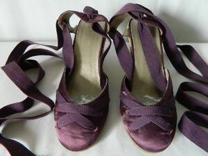 e028a384648b4f ANDRE espadrilles satin ruban mules sandales corde compensées nu ...