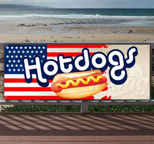 HOTDOGS Advertising Vinyl Banner Flag Sign Many Sizes Available USA