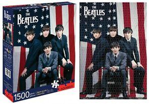 Beatles USA 1500 Piece Puzzle NMR Aquarius NEW 000143370