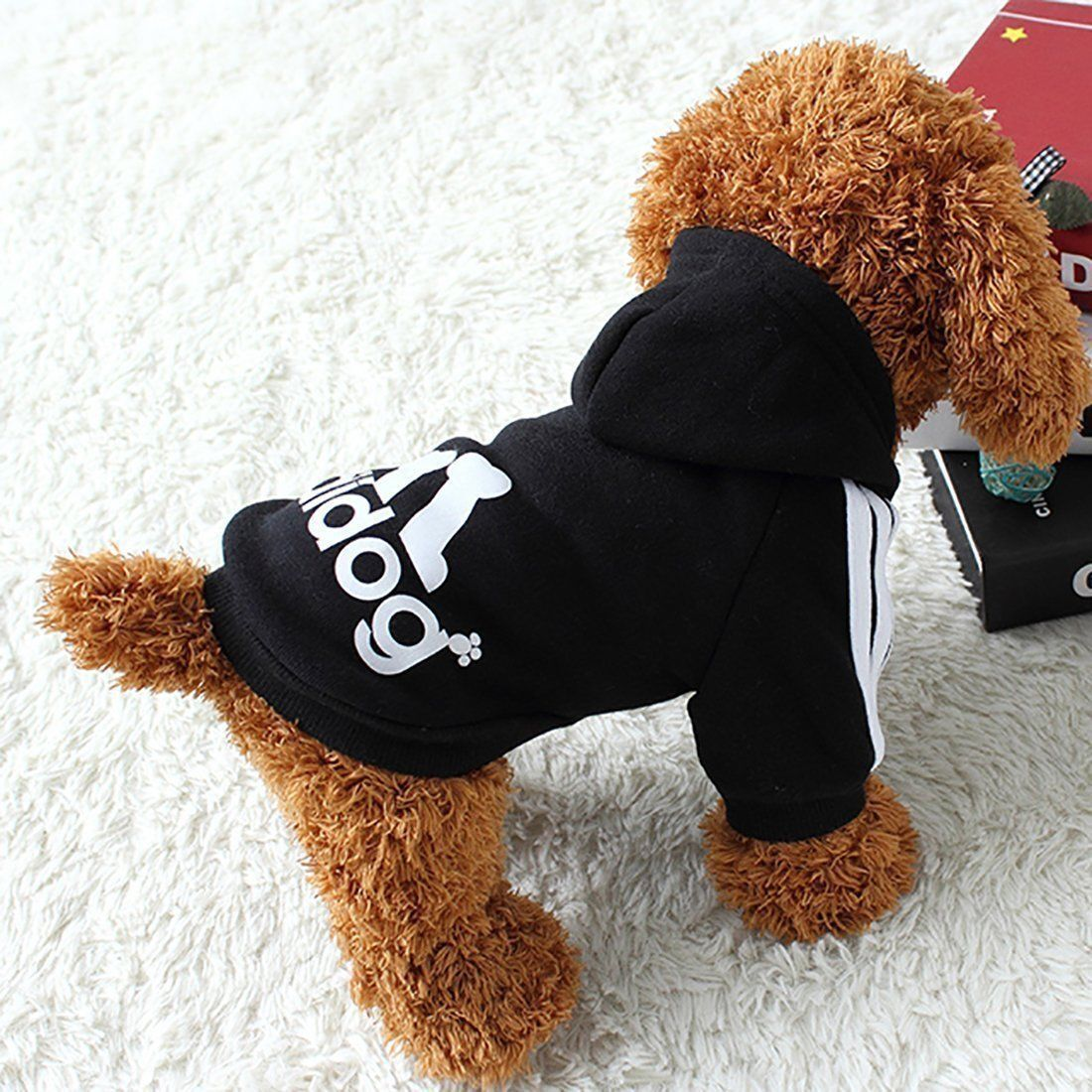 New XS-3XL Pet Winter Coat Dog Warm Clothing Casual Cat Puppy Hoodie Sweater 5