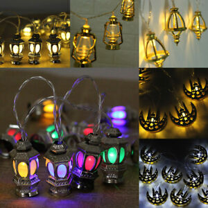 LED-Ramadan-Lichterkette-Eid-Mubarak-Mond-Beleuchtete-Biergarten-Islam-Fest-Deko
