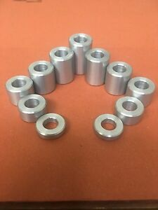 20MM Dia Aluminum Stand Off Spacers Collar Raisers Bushes  35MM Long M12 Hole