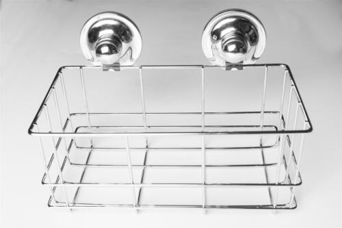 26,5x17,2x15,2cm Korb Ablage Dusche Wanne Duschkorb mit Saugnapf ohne Bohren ca
