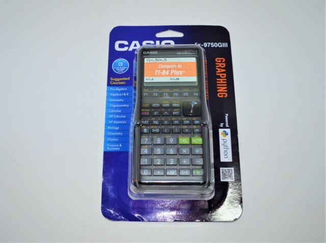 BRAND NEW SEALED CASIO FX-9750GIII 3RD GEN GRAPHING CALCULATOR TI-84 BLACK