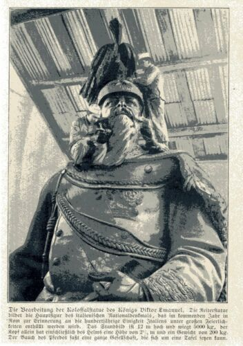 Handwerker am italienischen Nationaldenkmal Statue König Viktor Emanuel c.1910