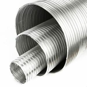 Heat Resistant Hose >> Details About Aluminium Flexible Pipe Alloy Air Ducting Tube Heat Resistant Hose O 75 250mm