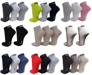9 Paar SPARPACK Puma Kurzschaft Sneaker Socken - Quarter 1/4 Schaft Knöchelhoch