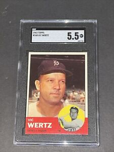 1963 Topps #348 Vic Wertz SGC 5.5 Newly Graded & Labelled