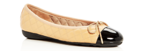 Paul Mayer Attitudes Best Patent Black//Nappa Beige Ballet Flat Women sizes 5-11